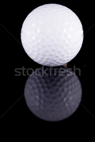Сток-фото: мяч · для · гольфа · черный · назад · землю · древесины · природы
