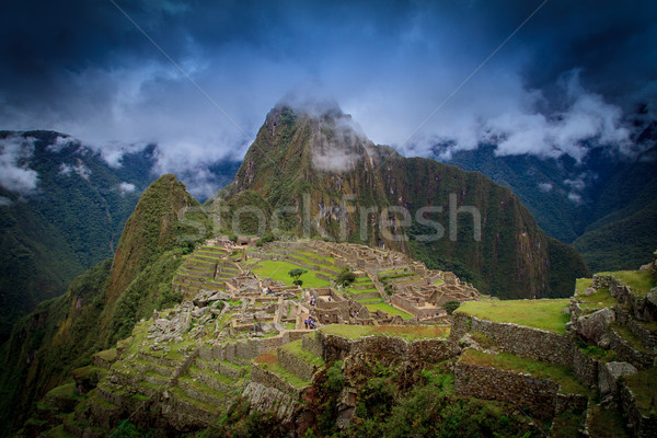 Ancient inca lost city of Machu Picchu, Peru Stock photo © pxhidalgo