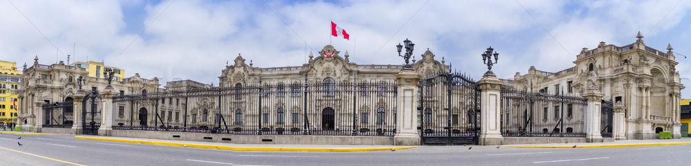 Présidentielle palais lima Pérou maison voitures Photo stock © pxhidalgo