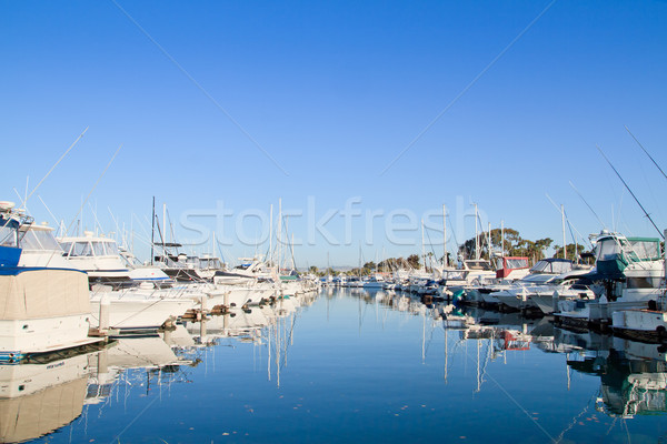 Stock photo: Marina with yachts and boats, San Diego, USA