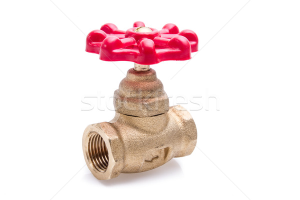Water valve isolated on white background Stock photo © pxhidalgo