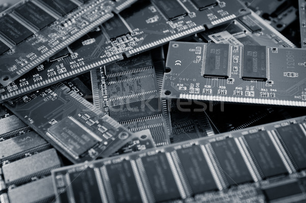 ram memory background color processed blue Stock photo © pxhidalgo