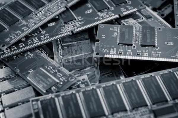 Koç bellek renk mavi stüdyo teknoloji Stok fotoğraf © pxhidalgo