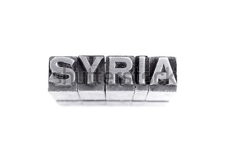 Foto stock: Síria · assinar · metal · carta · tipo