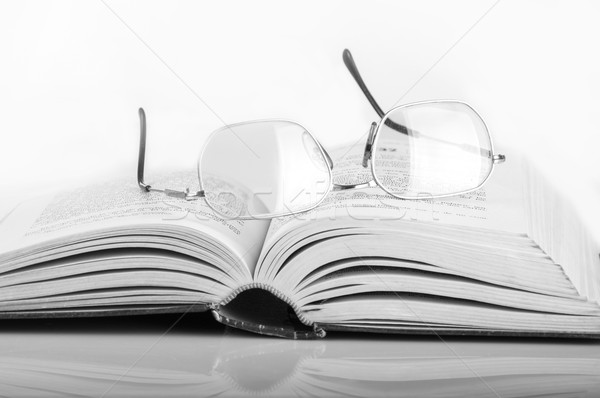 a pile of books and glasses Stock photo © pxhidalgo