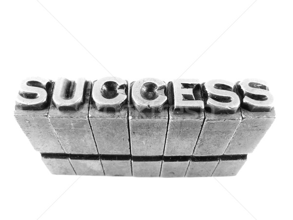 SUCCESS sign, antique metal letter type isolated Stock photo © pxhidalgo