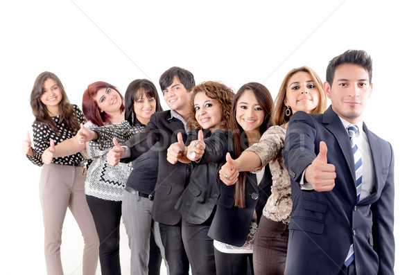 Group of hispanic business people  with thumbs up Stock photo © pxhidalgo