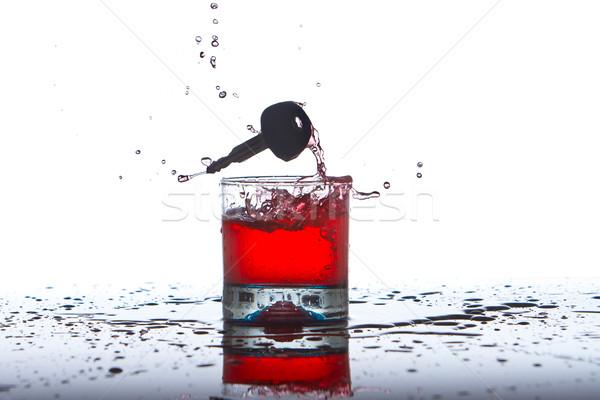 Drinken rijden autosleutels alcohol weg bier Stockfoto © pxhidalgo