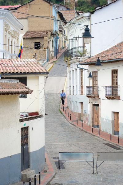 Quito old town historic center view, Ecuador. Stock photo © pxhidalgo