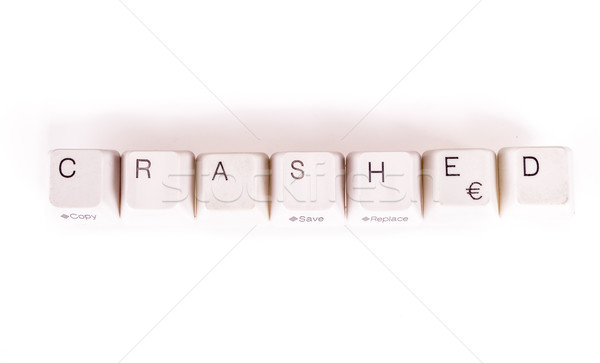 Crashed word written with computer buttons Stock photo © pxhidalgo