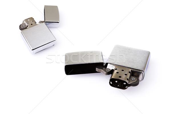 Metal encendedor blanco aislado luz humo Foto stock © pxhidalgo