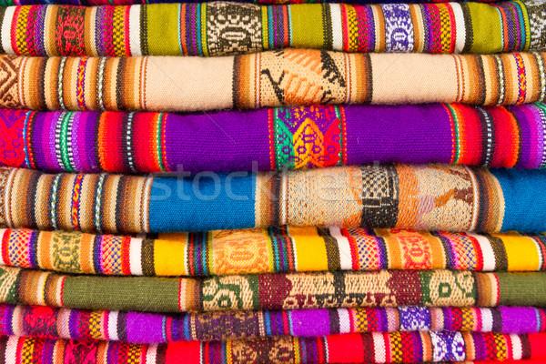 Colorful blankets Stock photo © pxhidalgo
