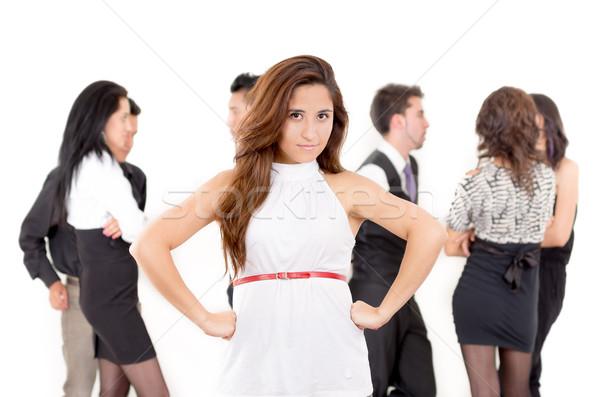 競争力のある 怒っ 女性実業家 オフィス ビジネス 女性 ストックフォト © pxhidalgo