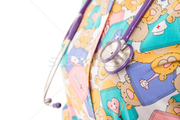 Lekarza stetoskop człowiek metal Zdjęcia stock © pxhidalgo
