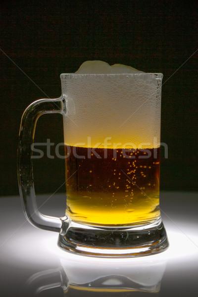 Vetro birra buio nero bevande drop Foto d'archivio © pxhidalgo