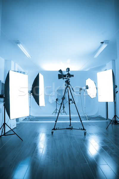 Photo of an empty photographic and video  studio. Stock photo © pxhidalgo