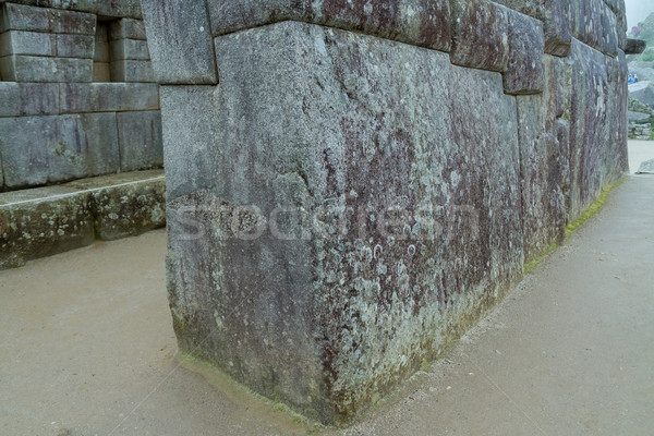 Beroemd steen Machu Picchu Peru oude inca Stockfoto © pxhidalgo