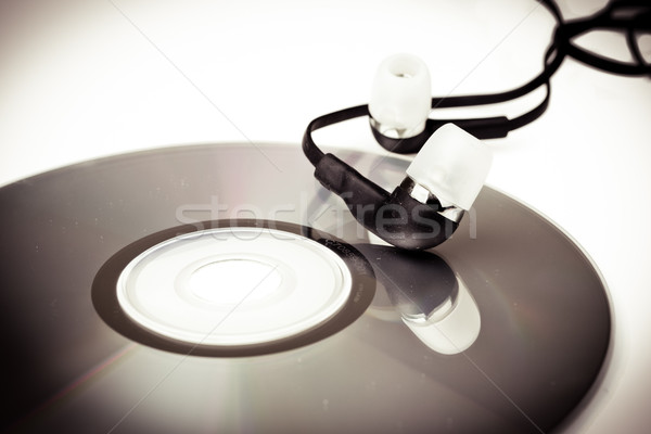 modern headphones and CD Stock photo © pxhidalgo