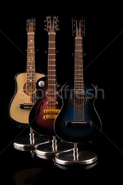 acoustic and electric guitars set Stock photo © pxhidalgo