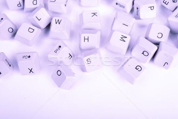 スタック 青 コンピュータのキーボード キー コンピュータ 技術 ストックフォト © pxhidalgo