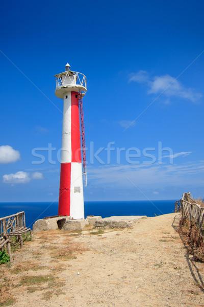 Lighthouse on the blue sky background Stock photo © pxhidalgo