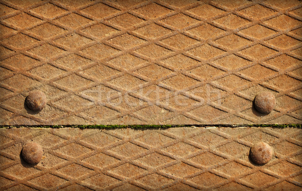 Joint boards of metal decking Stock photo © pzaxe