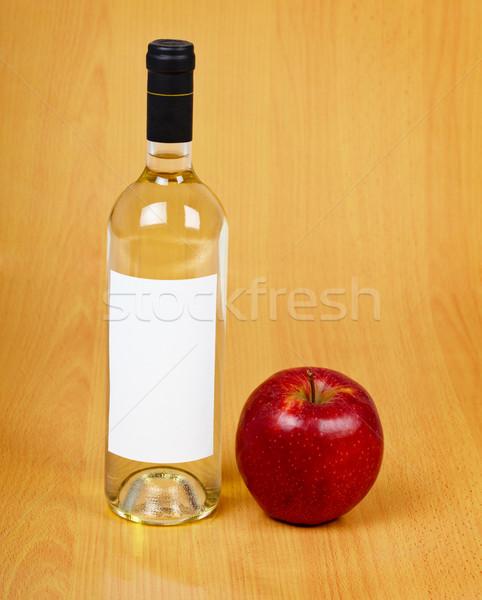 ボトル サイダー 木製のテーブル 食品 リンゴ 赤 ストックフォト © pzaxe