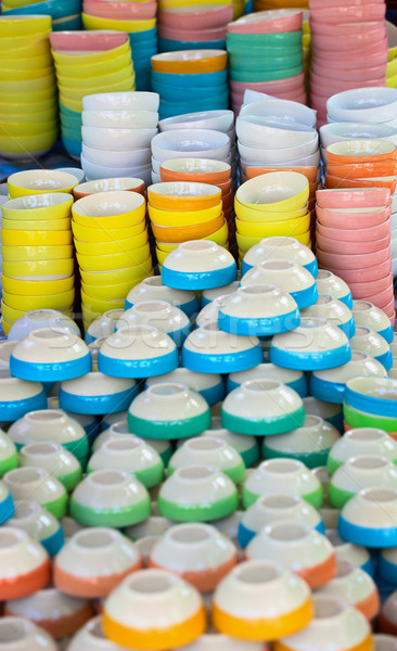 Inexpensive dishware on the eastern market Stock photo © pzaxe