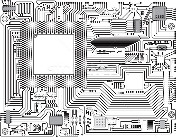 Vector circuit board industriële monochroom elektronische abstract Stockfoto © pzaxe