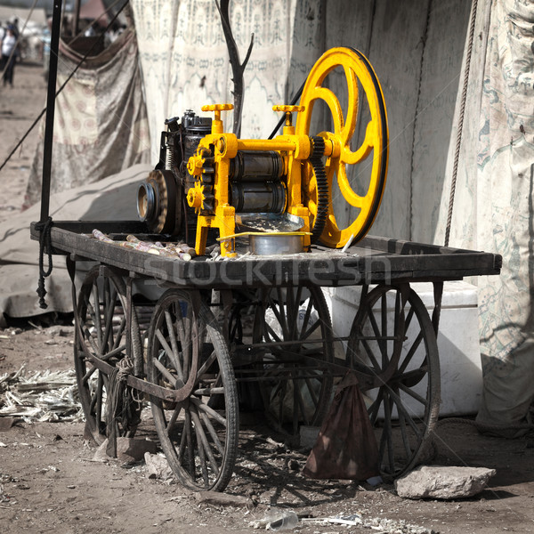 Maschine Saft Zuckerrohr Indien Auto Technologie Stock foto © pzaxe