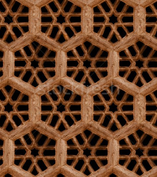 бесшовный индийской шаблон коричневый песчаник гриль Сток-фото © pzaxe