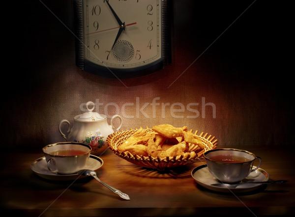 Dos té luz retro ver Foto stock © pzaxe