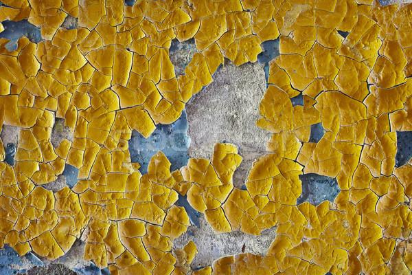 Gebarsten olie glazuur oude muur oppervlak Stockfoto © pzaxe