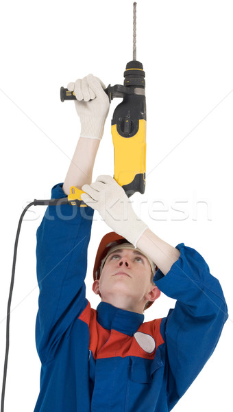 Builder and perforator Stock photo © pzaxe