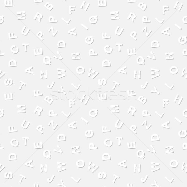 Eenvoudige textuur brieven grijs vector licht Stockfoto © pzaxe