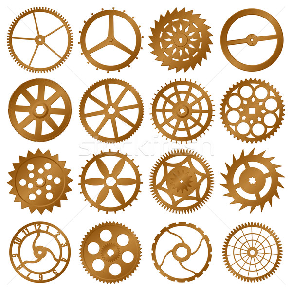 Set of vector design elements - watch gears Stock photo © pzaxe