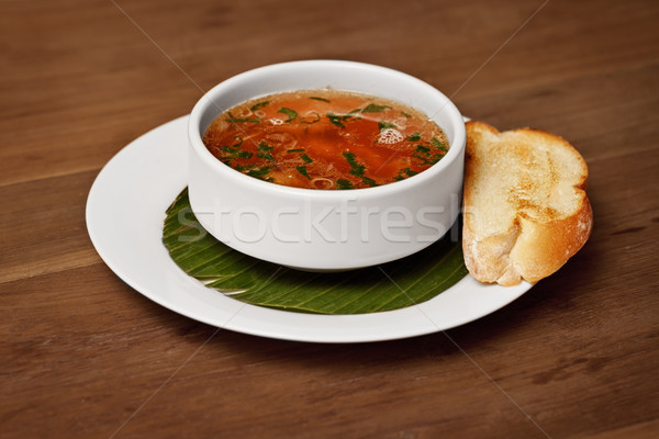 シーフード スープ 焼いた パン 表 食品 ストックフォト © pzaxe