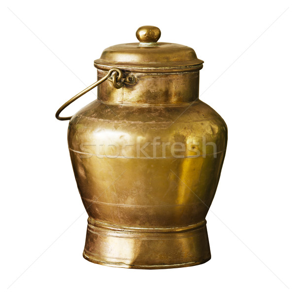 Ancient bronze can with handle Stock photo © pzaxe