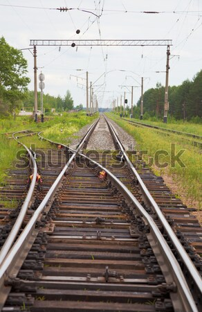 Railway lines with switch Stock photo © pzaxe