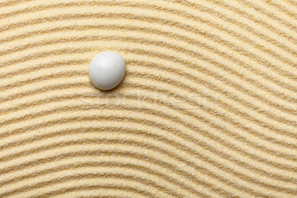 Abstract composition -  sandy wavy background and glass drop Stock photo © pzaxe