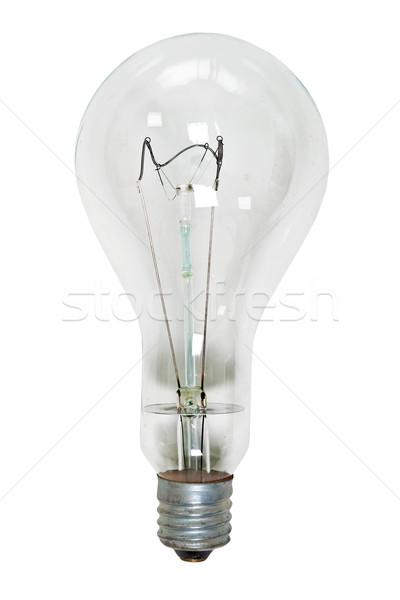 Stock photo: Big glass electric bulb