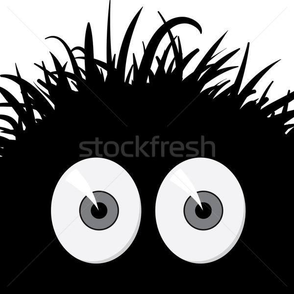 Képregény ijedt lény sötét furcsa szemek Stock fotó © pzaxe
