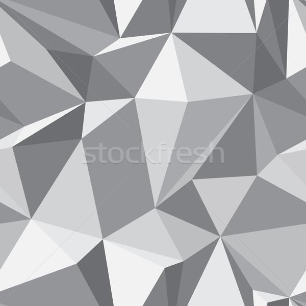 Diamond seamless pattern - abstract polygon texture Stock photo © pzaxe