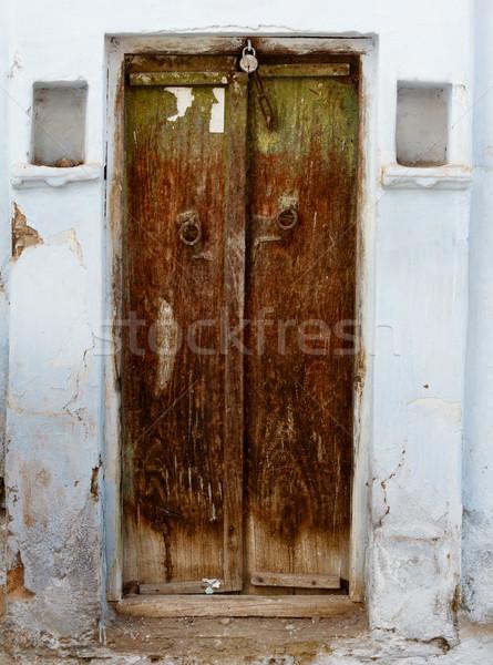 гнилой двери старом доме Индия Гранж Сток-фото © pzaxe