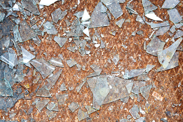 Rusty old metal floor and glass Stock photo © pzaxe