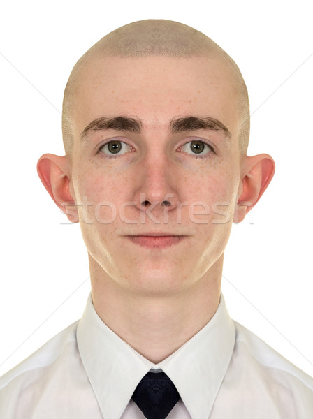 Symmetrical portrait of the young man Stock photo © pzaxe
