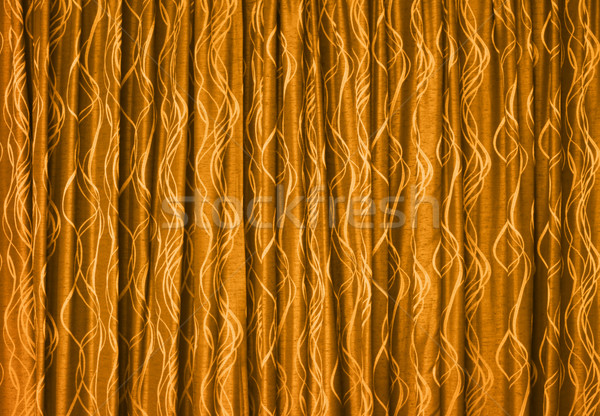 Yellow drapes - background Stock photo © pzaxe