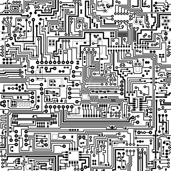 Vector seamless texture. Connections and contacts. Stock photo © pzaxe