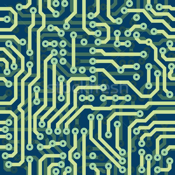 High tech schematic seamless vector texture - electronic circuit Stock photo © pzaxe