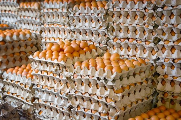óriási boglya tojás ázsiai nyilvános piac Stock fotó © pzaxe